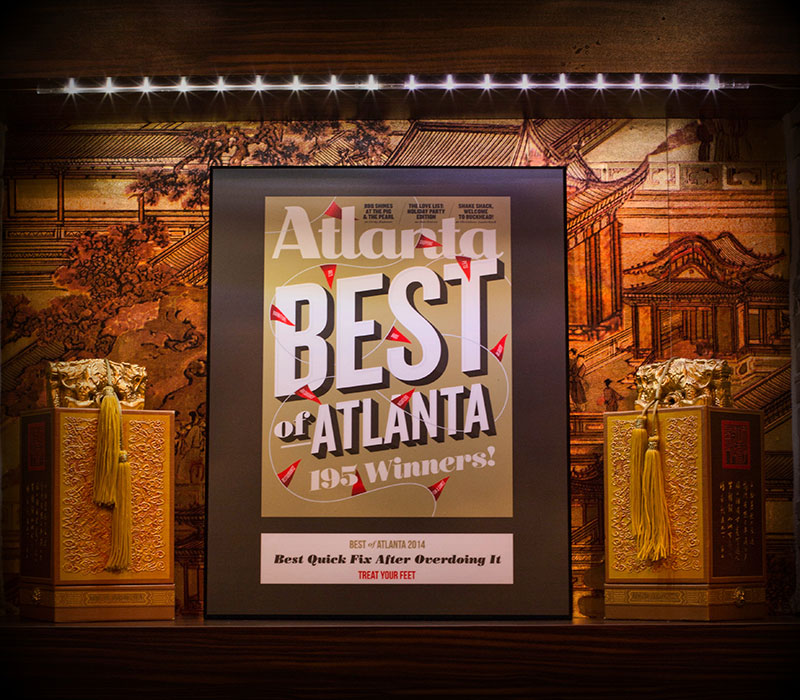 Treat Your Feet Massage received a Best of Atlanta Award from Atlanta Magazine for having the best massages in the area.