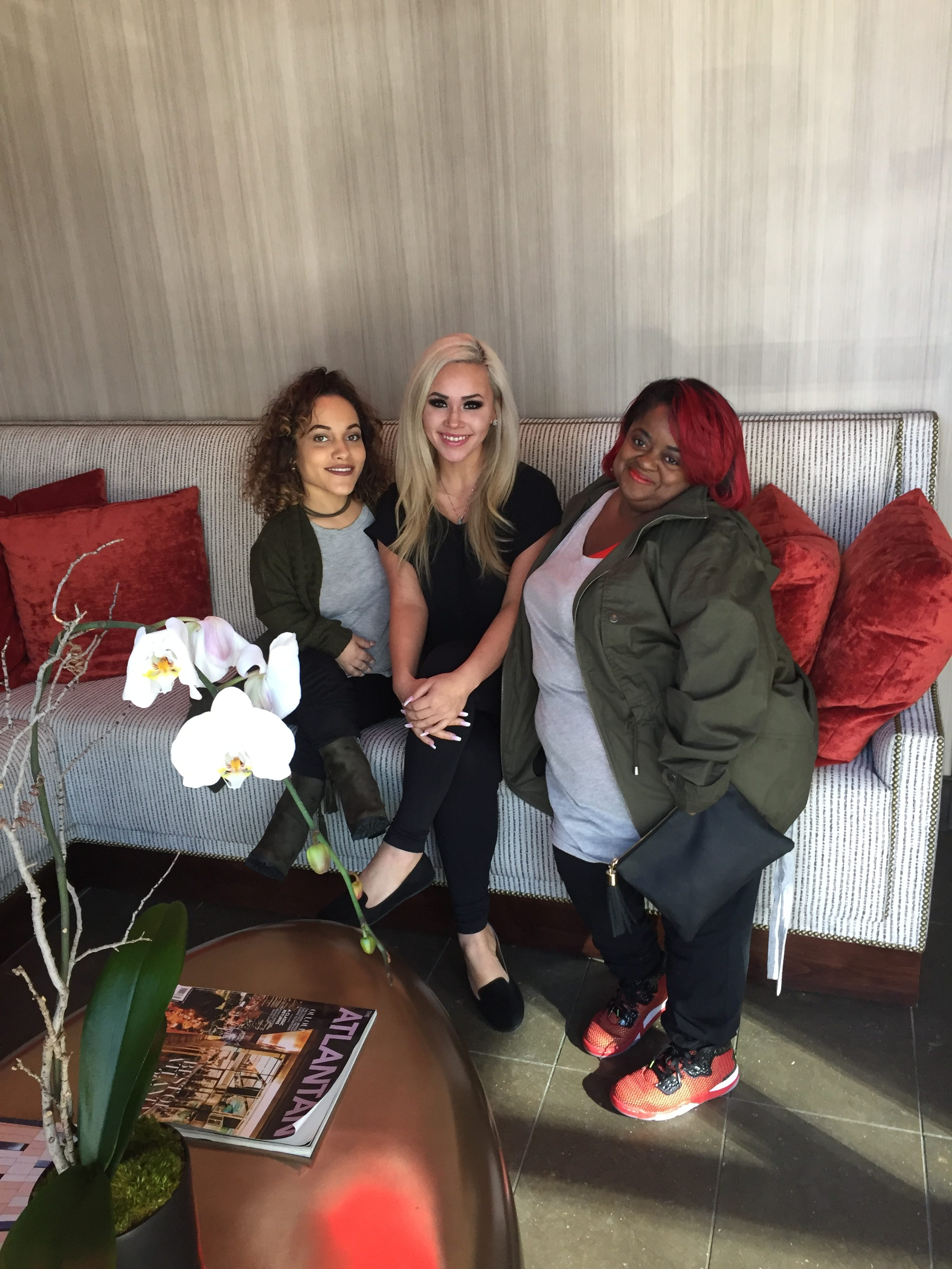 Ms. Juicy and Tanya were at Treat Your Feet Buckhead for a filming of an episode of Little Women of Atlanta which will be airing on the Lifetime channel. They also got a foot massage while they were here.